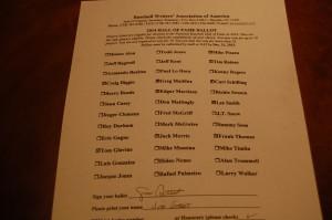My 2013 HOF ballot